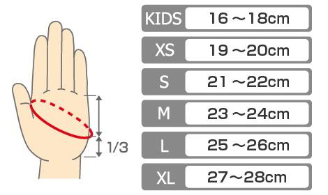 Таблица размеров перчаток и варежек Rapala