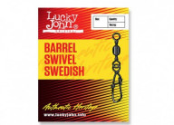 Вертлюги c застежкой Lucky John BARREL AND SWEDISH