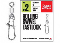 Вертлюг c застежкой Lucky John Rollinig Swivel Fastlock