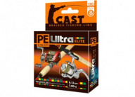 Плетеный шнур AQUA PE Ultra Elite Cast Multicolor