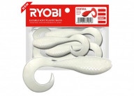 Риппер-твистер Ryobi Fantail 8шт 5.1см 1.2г CN001 (white night)