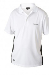Футболка Daiwa DWPS-M white/black Polo Shirt