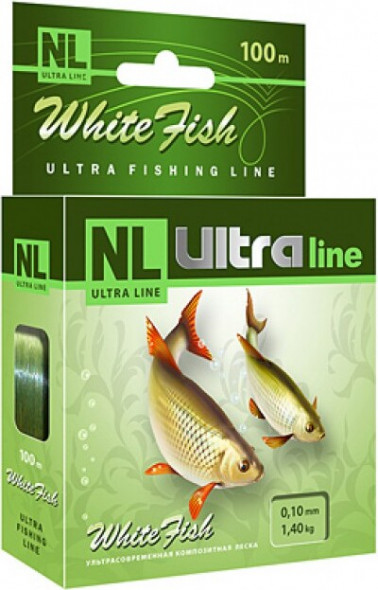 Леска AQUA NL Ultra White Fish 100m 0.16mm