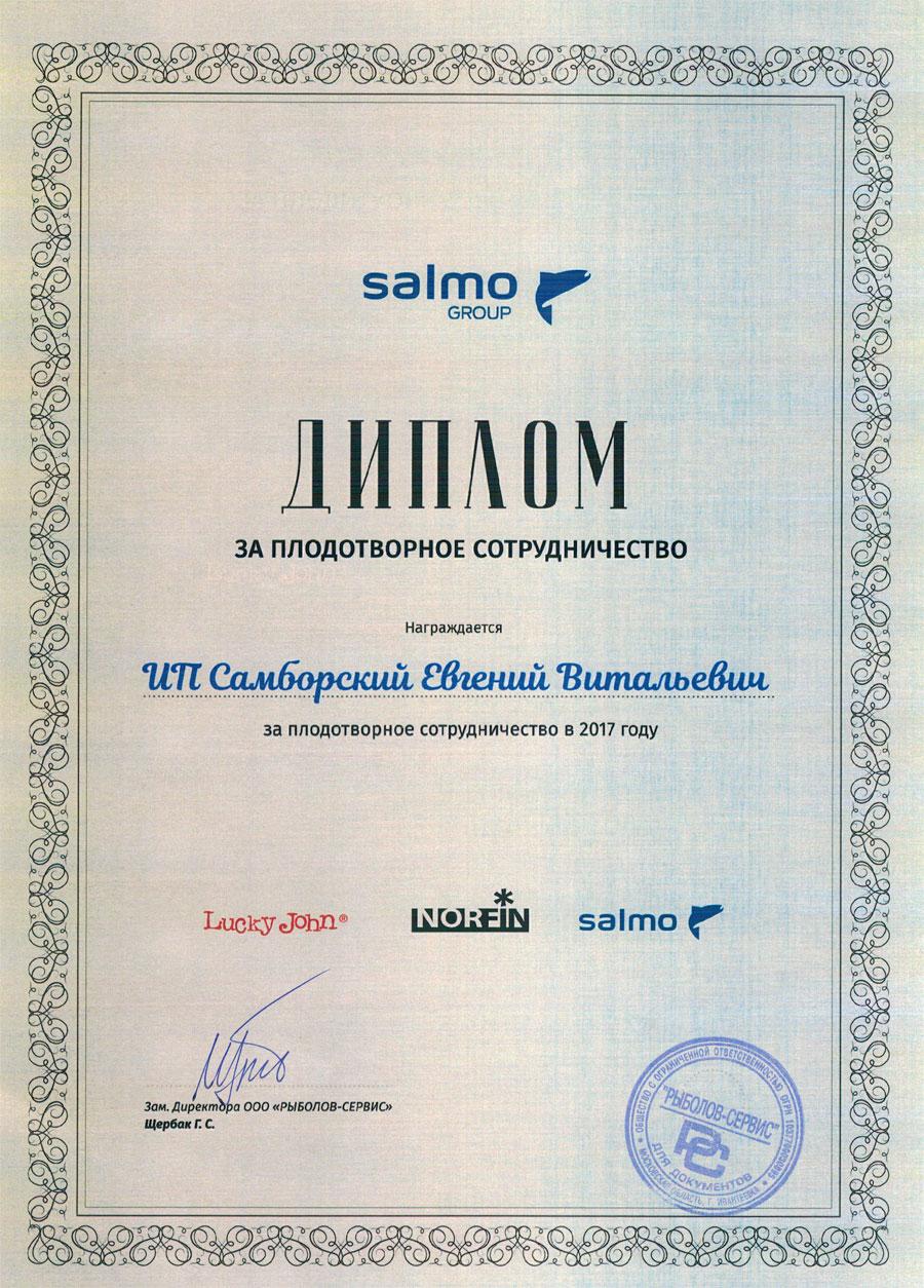 диплом от салмо