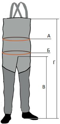 Размеры вейдерсов Norfin